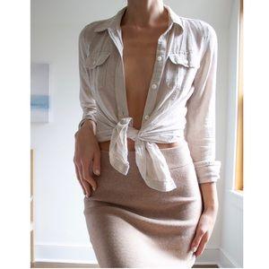 Cotton/ Linen Blend Top